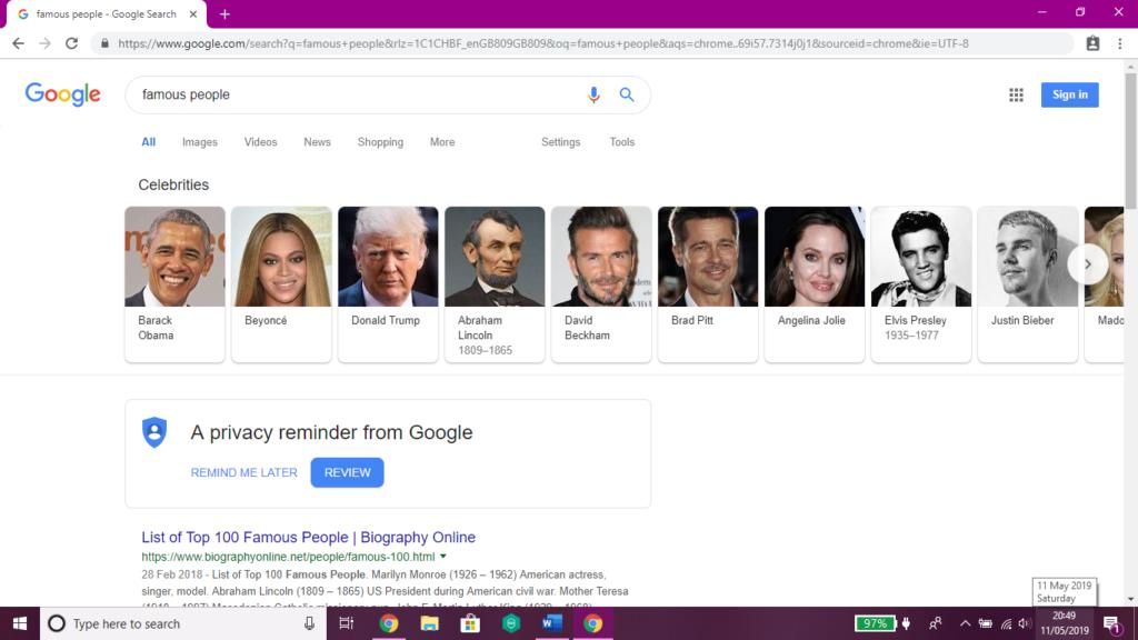 Image of Google card